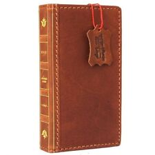 genuine real leather Case for apple iphone 7 bible book wallet cover slim Retro