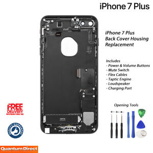 NEW iPhone 7 Plus Fully Assembled Back Cover Housing with ALL Parts - BLACK