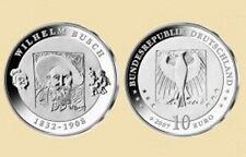 "10 euros conmemorativa BRD 2007"" 175 cumpleaños de Wilhelm Busch"" - D -"