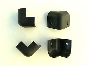 Set of small Black Plastic Corner Protectors Loudspeaker Amplifier Cabinet Case