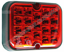 RCT495 Caravan Car Trailer Towing Approved Compact Square Rear Red LED Fog Lamp