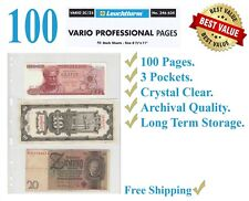 50 LIGHTHOUSE Vario 3c Pages 3 Pockets Clear Album Sheets Modern Stamp