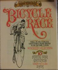 Reproduction Print of 1883 Bicycle Race