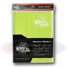 9-POCKET MONSTER PROTECTOR BINDER - HOLOFOIL HIGHLIGHTER YELLOW