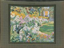 La plate bande fleurie par Octave Denis Victor Guillonnet  ILLUSTRATION 1932