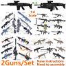 1:6 1/6 4D Weapon Model Shot Gun FNSCAR M134 240 HK416 53 PKP RPG MG42 TAR21 G36