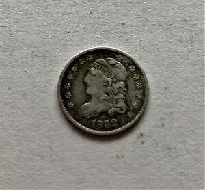 1832 CAPPED BUST HALF DIME IN EXTREMELY FINE CONDITION IN ORIGINAL CONDITION