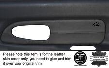 Negro Stitch 2x Hinterachse Puerta Gris Tarjeta Skin cubre encaja Mitsubishi L200 K74 98-06