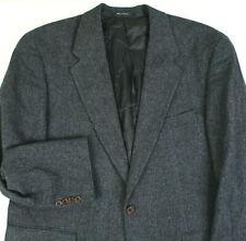 CHAPS RALPH LAUREN Blue Gray Herringbone Tweed BLAZER COAT SUIT JACKET Men's 46R