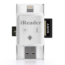 Apple Lightning External Reader Memory TF/SD Card For iPhone Xs 8 Android IOS12