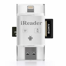 Apple Lightning Reader External Memory TF/SD Card For iPhone Xs 8 Android IOS 12