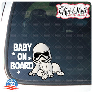 """Baby Trooper Character """"Baby, Kid, or Kids on Board"""" BUYERS CHOICE - Sign"""