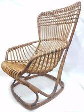 Rara poltrona rattan originale bonacina design tito agnoli 1960 lounge chair