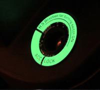 Sticker autocollant Pastille Phosphorescente Clés voiture moto