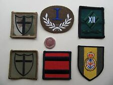 Royal Engineers, MSSG, 8 Eng. Brigade [olive & mtp],   TRF patches. New.
