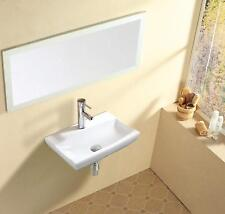 Modern Bathroom Wall Hung / Wall Mounted Ceramic White Gloss Wash Basin + Fixing