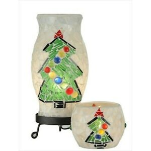 Dale Tiffany Xmas Combo Accent Lamp And Votive, Black - TAL100855