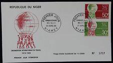 59L** Enveloppe 1er jour / FDC République du NIGER (OIT 1969)
