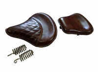 Front & Rear Brown Color Genuine Leather Seat For Royal Enfield Classic 350/500