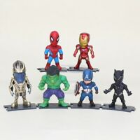LOT E 6 MINI FIGURINES MARVEL AVENGERS INFINITY WAR IRON MAN HULK THANOS