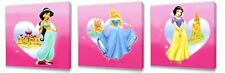 Disney Princess III  set of Three Wall / Plaques canvas pictures