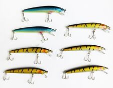 SET DI 7 PEZZI ESCA ARTIFICIALE STRIKER MINNOW LURE LURES TIPO RAPALA