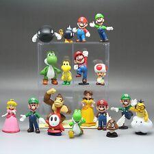 18pcs set Nintendo Super Mario Luigi Yoshi Toad DK Figures Toy minifigure dolls
