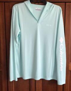 Women's Sz XL Columbia Hoodie Rapid Creek Omni-Shade 50 UPF Sun Sportswear New