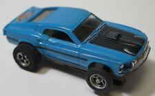 Aurora TJet 1969 Mustang Mach 1 Blue Slot Car