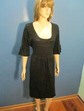 Plus Size 2X black 3/4 LENGTH SLEEVE KNIT SWEATER dress by IN STUDIO