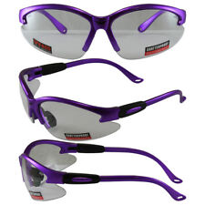 Safety Shop Glasses with Purple Frame and Clear Lenses