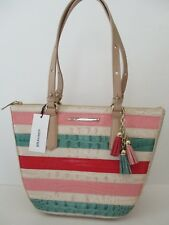 NWT BRAHMIN Small Willa Carryall Bag Sunglow Cayo Coco Embossed Leather