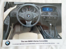 BMW 6 Series Convertible interior press photo Dec 2003