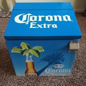 RARE Corona Premier Metal Retro Insulated Beer Advertising Cooler Promotional