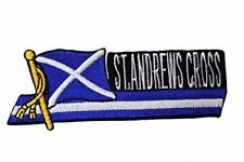 Scotland ST. ANDREWS CROSS SIDEKICK Country Flag Iron on Patch Crest Badge .. 1.