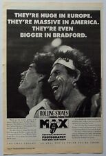 The Rolling Stones 1992 Poster Ad At The Max bradford