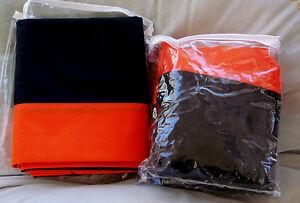 Cincinnati BENGALS Orioles 60 X 80 Bedskirt Dan River Queen Black Orange NWT