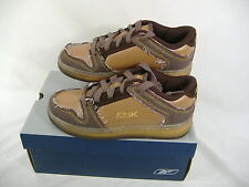 New Reebok Boys 4 Metro Plus Brown Leather Low Basketball Leather Shoes