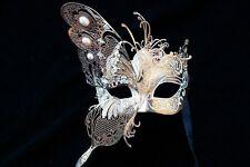 Dream Butterfly Fancy Dress Black White Gold Venetian Laser Cut Masquerade Mask
