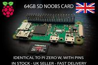 Raspberry Pi Zero WH (WLAN+Bluetooth) & Pre-Loaded NOOBS 64Gb SD Card Brand New