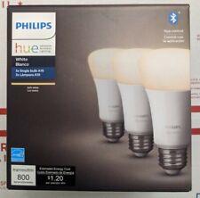 Philips Hue Smart LED Bulbs 3-Pack A19 Soft White E26 Bluetooth New Sealed