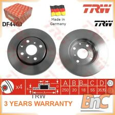 Toyota Aygo 1.0 67bhp Delphi Front Brake Pads /& Discs 247mm Vented