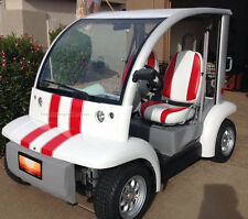 Racing rally stripe stripes with pin decals graphics for Golf Cart Kart