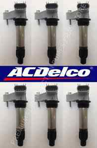 LOT OF 6 GENERAL MOTORS NEW ACDELCO IGNITION COIL - OEM Premium Quality
