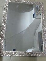 specchio specchiera  bellissima cornice legno argento chiocciola mis est 60 x 80