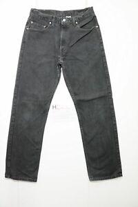 Levi's 505 regular fit usato (Cod.H2400) W34 L32 denim jeans nero grado A