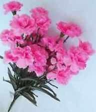 3 Pink Carnation Bushes Artificial Flower for Decorating, Crafting, Embellishing