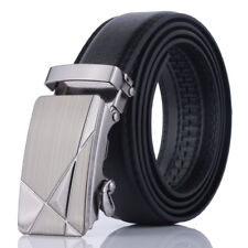 Men Leather Fashion Automatic Belt Buckle Belts Waist Strap Mens Waistband New