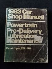 1983 Ford Car Shop Manual Volumes C & E Escort/Lynx, Exp/Ln7
