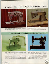 1964 PAPER AD 2 PG Singer Sewing Machine Slant-O-Matic Style-O-Matic Spartan